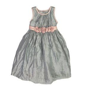 Pippa & Julie Silver Gray/Pink Formal Dress Size 5